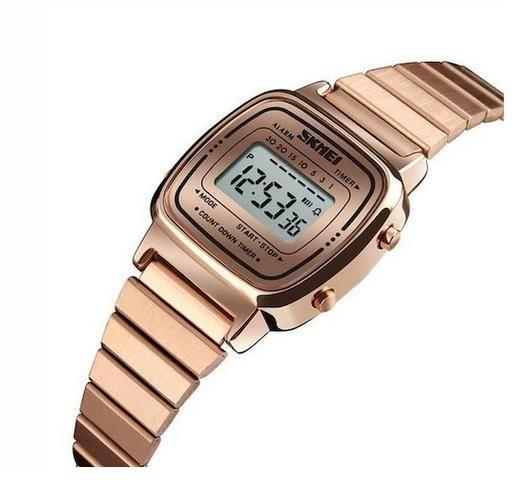 2aec2c2413c R  75. Relógio Skmei Digital Feminino Rosé Gold Na Caixa Novo Aceito  Retirada No Local
