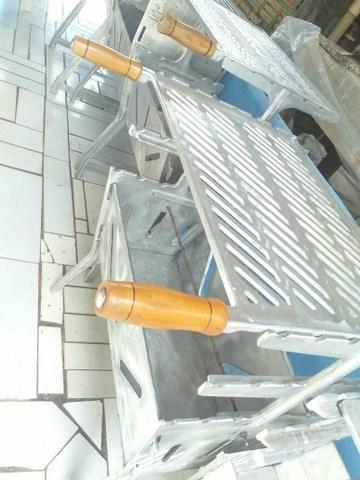 Churrasqueira G aluminio batido