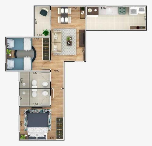 Apartamento - 2 dorm - Suite - Lançamento - Urbanova - Oportunidade - Entrada facilitada - Foto 4