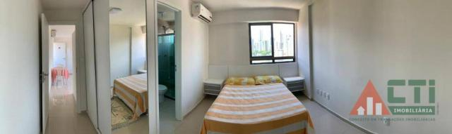 Flat com 1 dormitório para alugar, 40 m² por R$ 2.000,00/mês - Madalena - Recife/PE - Foto 8