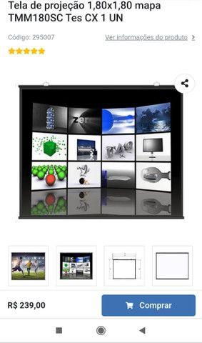 Projetor Epson s27 + tela 1.80x1.80 - Foto 3