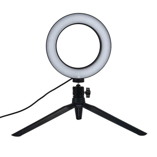 Ring Light Led Iluminador Tripé 6 polegadas 16 cm A Melhor - Foto 4