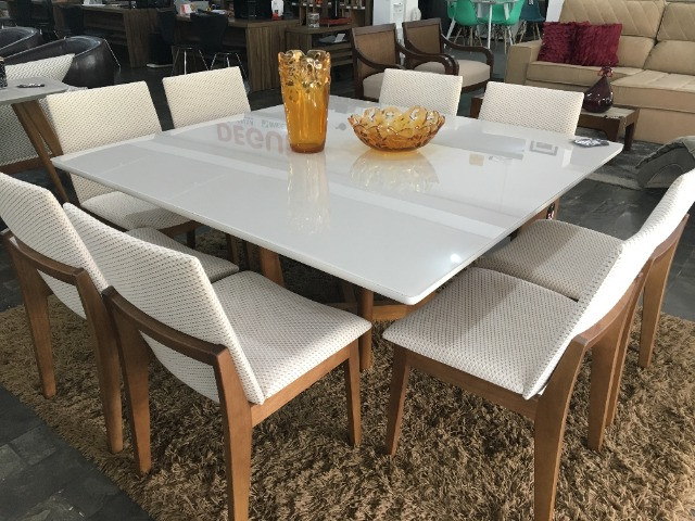 Mesa com 8 Cadeiras em Madeira Direto da Fábrica! - Foto 2