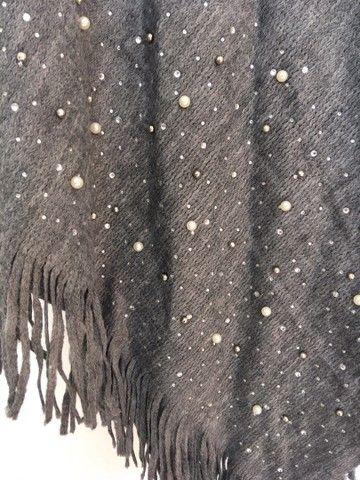 Pala cinza em tricot