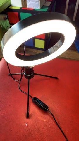***Promoção*** Ring Light Iluminador + Tripé De Mesa - Foto 3