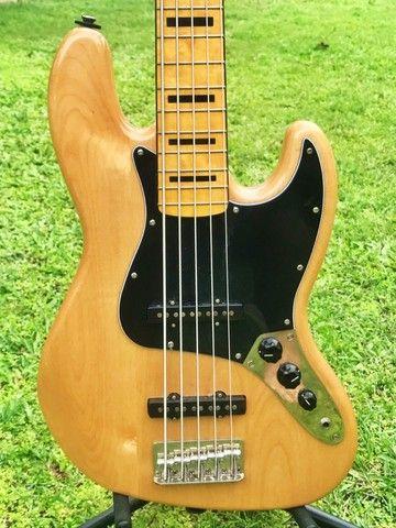 Contrabaixo Fender Squier Classic Vibe 70S Jazz Bass V MN 037 4550 521 Natural - Foto 4