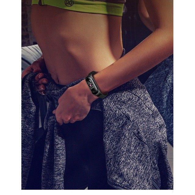 Relógio Digital Led Esportivo Com Pulseira De Aço - Frete grátis - Foto 6