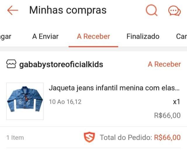 Jaqueta Jeans Infantil Feminina