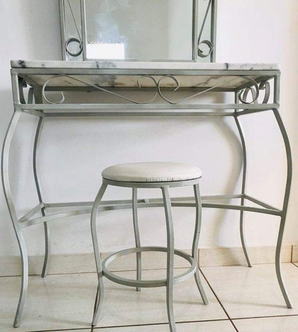 Penteadeira de mármore branco  - Foto 3