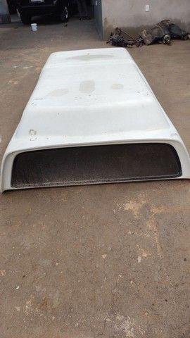 Capota de fibra para S10 cabine simples - Foto 4