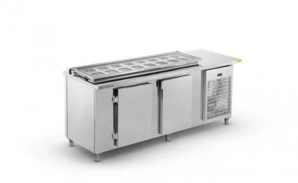 Balcão refrigerado com cubas tipo Subway- JM equipamentos