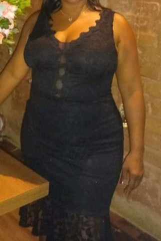 Vestido de festa, tamanho: 44. - Foto 5