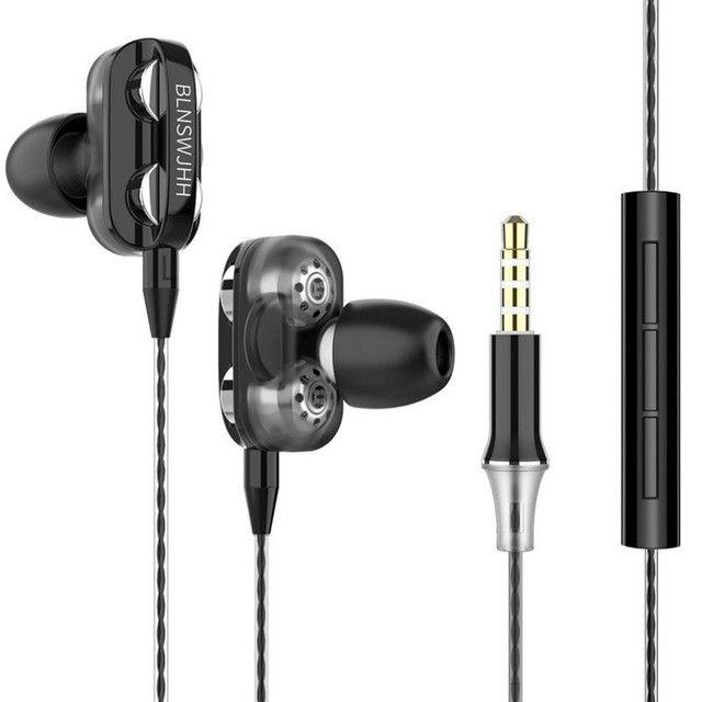 4D Bass Stereo Earphone Double Speaker 3.5MM Earphones - Foto 2
