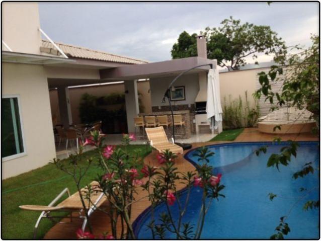 Casa 4 Suítes + Escritório, 456 m², mobiliada no Mirante do Lago