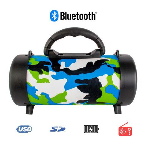 Caixa de Som Portátil Bluetooth D-P8 Grasep Pen Drive Mp3 Radio Fm Amplificada