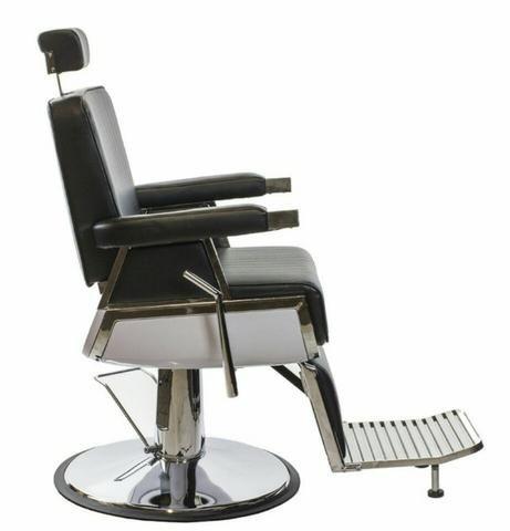 Cadeira Hidráulica e Reclinável Salão Ou Barbearia Nova com Garantia - Foto 3