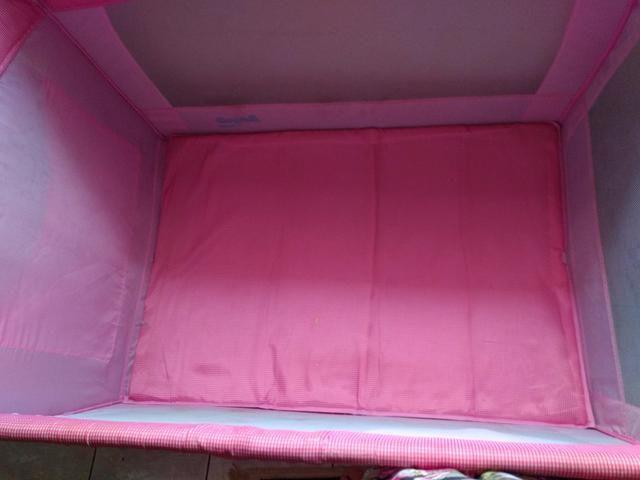 Berço desmontável rosa - Foto 2