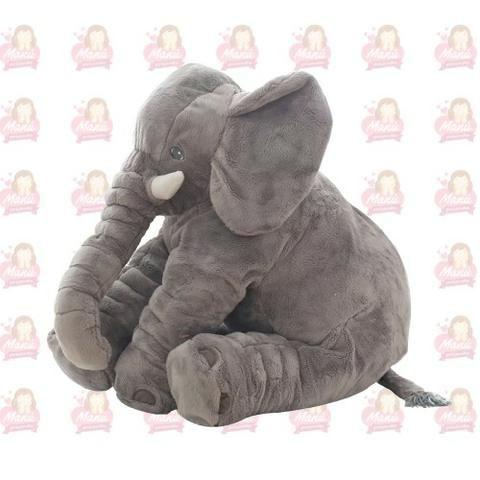 Cinza Pelúcia Elefante Almofada Infantil Bebê 60cm