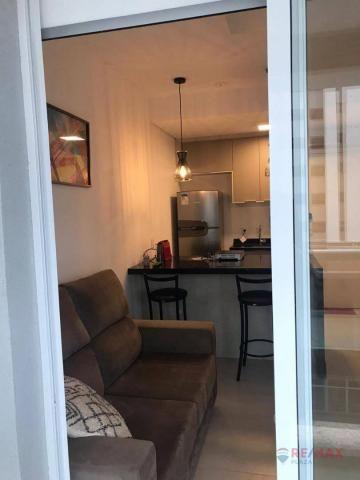 Apartamento com 1 dormitório para alugar, 40 m² por R$ 1.800,00/mês - Jardim Tarraf II - S - Foto 9