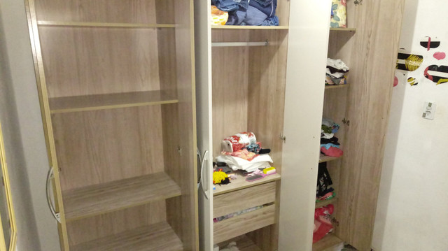 Vende-se guarda roupa 10 meses d uso quero comprar um guarda roupa menor - Foto 2
