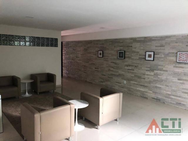 Flat com 1 dormitório para alugar, 40 m² por R$ 2.000,00/mês - Madalena - Recife/PE - Foto 2