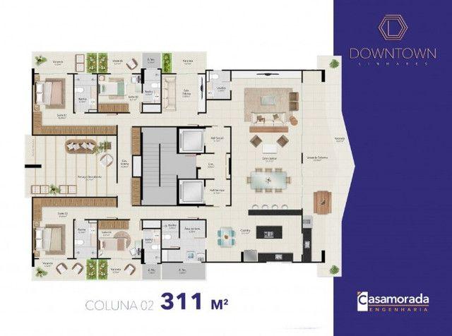 Apartamento 4 quartos, 4 suítes, 3 vagas cobertas no Downtown Linhares - Foto 16