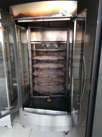 Assador de frango a gás rotativo  - Foto 3