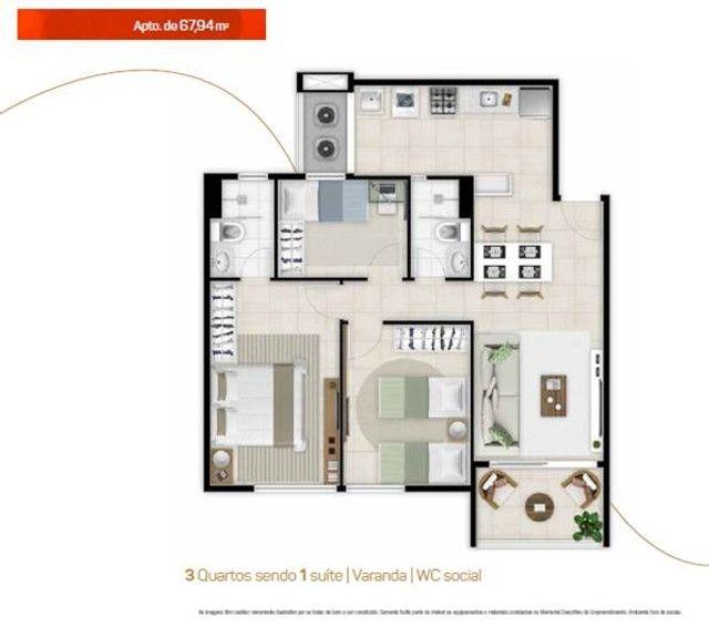 Apartamento Novo no Benfica Ao Lado da Reitoria da UFC - Foto 16