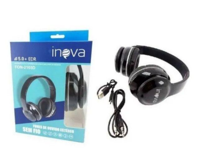 Fone De Ouvido Headphone Bluetooth Estéreo Inova - Foto 2