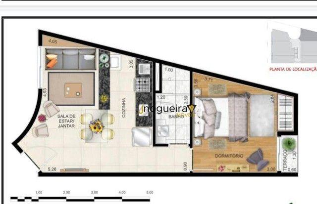 Ótimo Studio de 24m² à venda no Campo Grande - São Paulo/SP. Com Cozinha, banheiro e dormi - Foto 2
