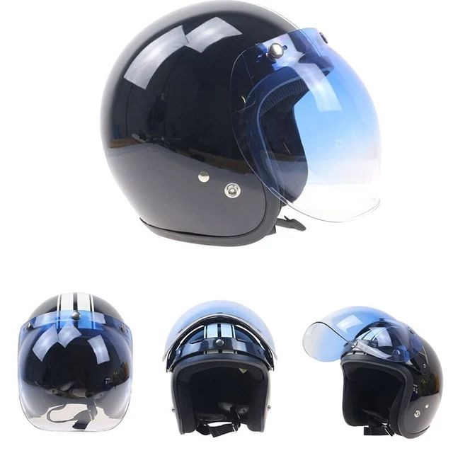 Viseira bubble bolha Azul degradê para capacete com Flip  - Foto 3