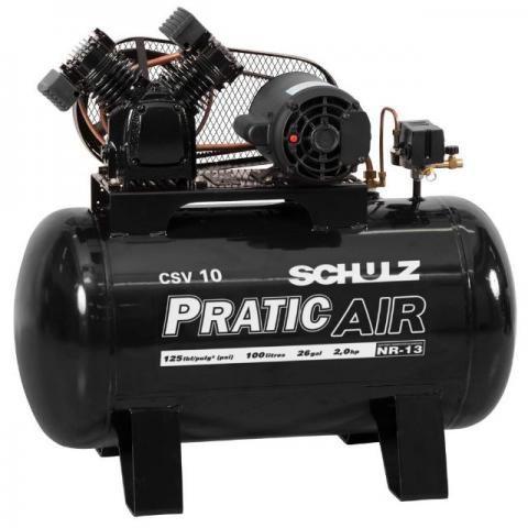 Compressor de ar schulz csv 10/100 2hp trifasico