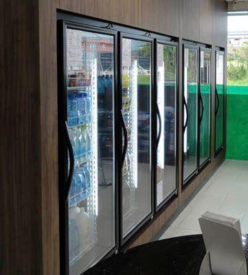 Câmara Fria Porta de vidros (walkin cooler)