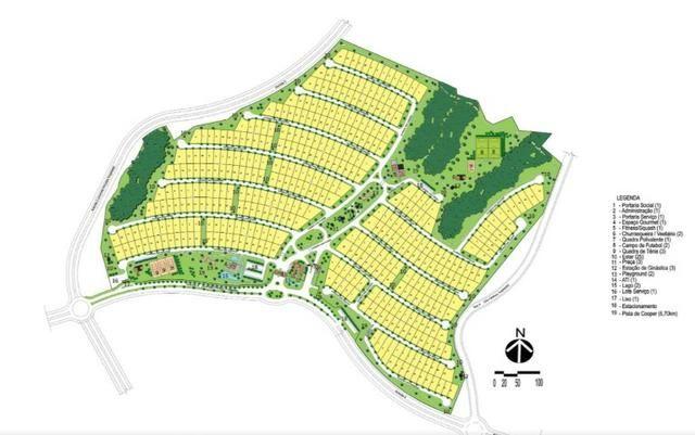 Terreno bem localizado - no começo do Condomínio, Sub esquina, com 458m² O Florais Itáli - Foto 2