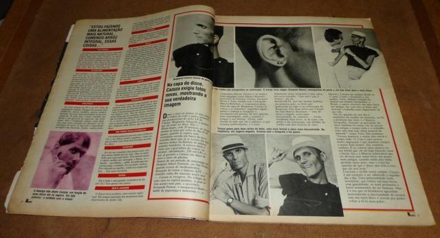 Cazuza - Revista Manchete de 08/07/1989 - Foto 4