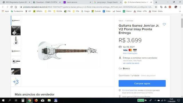 Guitarra Ibanez Jem Jr white Steve Vai floral inlay - Zerada !!! (somente venda) - Foto 6