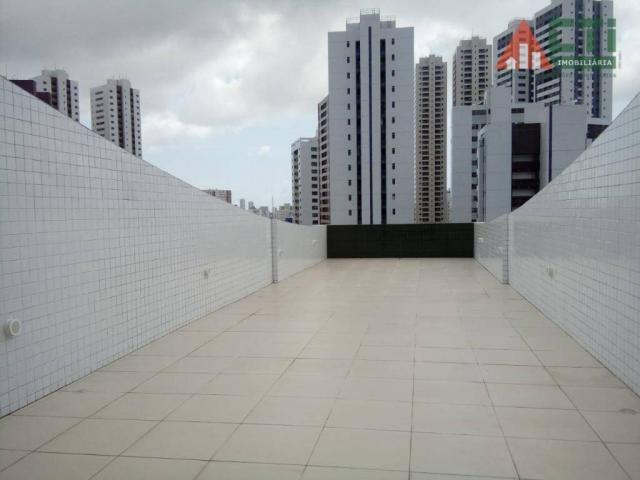Flat com 1 dormitório para alugar, 40 m² por R$ 2.000,00/mês - Madalena - Recife/PE - Foto 11