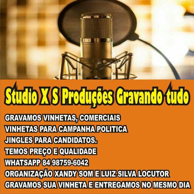 Studio xs Produções Gravamos Vinhetas comerciais jingles políticos Vinhetas para festas