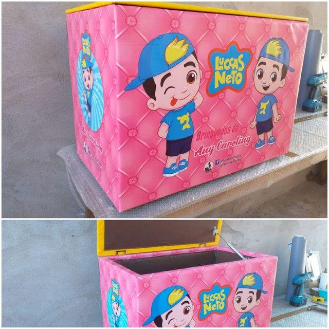 Caixa de brinquedos 40x50x70cm  - Foto 2