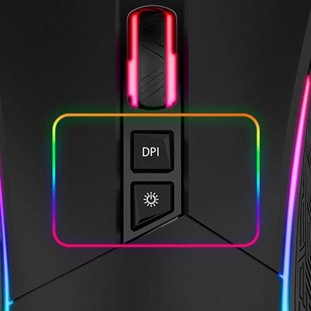 Mouse Gamer com Led RGB 4800DPI Evolut novo e com garantia - Foto 3