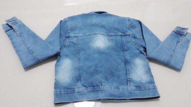 Jaqueta Jeans Infantil Feminina - Foto 2