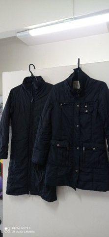 Vendo dois casacos feminino tamanho p ok - Foto 3