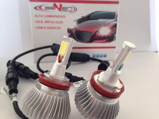 Kit Xenon Farol Led H1 H3 H4 H7 H8 H11 Hb3 Hb4 H27 Led Cree Carro Caminhão Moto - Foto 2
