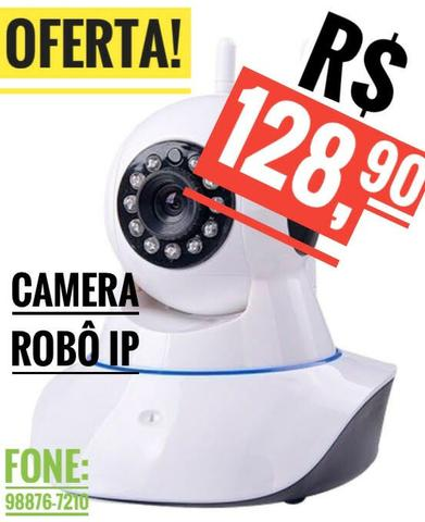 Câmera IP Wifi, Com áudio, Grava em Cartao Memoria, alarme