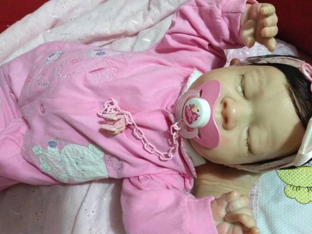 Boneca colecionável baby reborn - Foto 2
