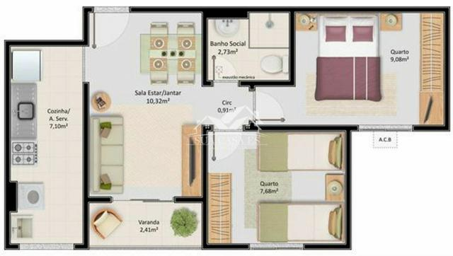 Apartamento - 2 quartos c/suite - no recreio das laranjeiras - Foto 11