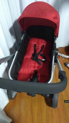 Carrinho Moisés + Bebê conforto c/ base isofix Fischer Price - Foto 5