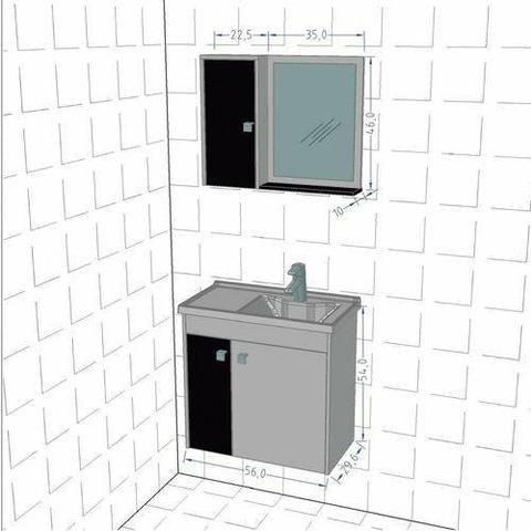 Gabinete De Banheiro Balcão Pia E Espelho Pra Banheiro