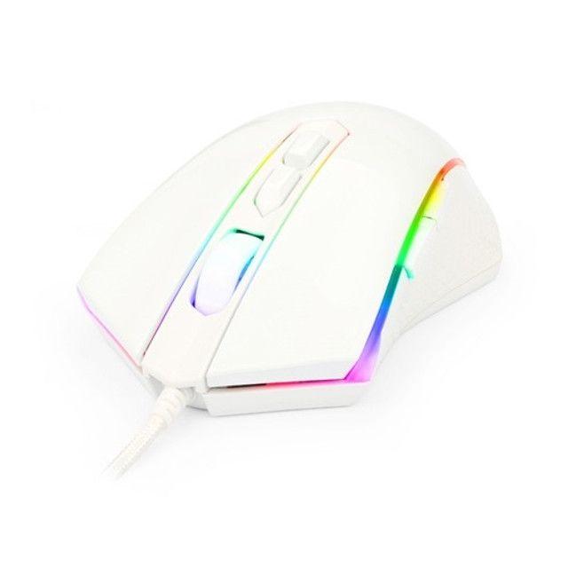 Mouse Gamer Redragon Memeanlion M710 RGB 10000 DPI Lunar White - Foto 3