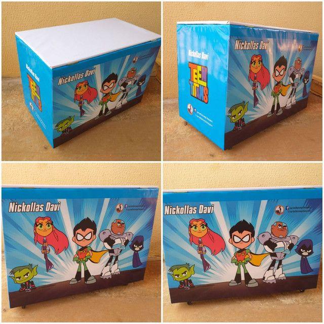 Caixa de brinquedos 40x50x70cm  - Foto 4